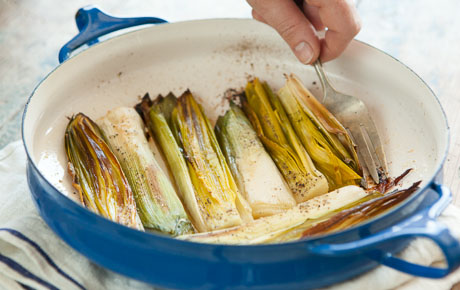 Oven-Roasted Leeks