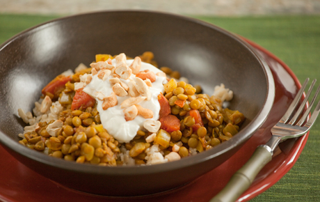 Lentil Curry with Cashews and Yogurt Recipe