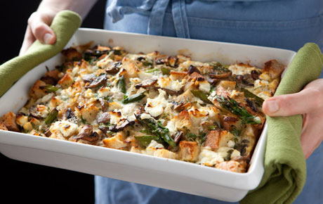Portobello and Asparagus Egg Strata