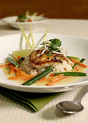 Recipe Spicy Coconut Braised Black Cod With Colorful Vegetables Whole Foods Market