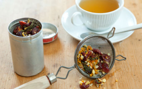 Homemade Dried Fruit and Herb Tea