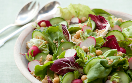 Big Beautiful Salad with Lemon-Miso Dressing