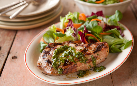 Grilled Pork Chops with Chimichurri
