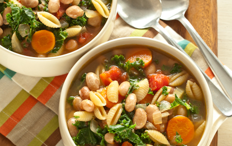 Pasta and Bean Soup with Kale Recipe