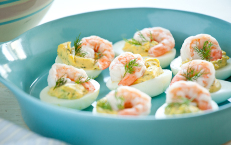 Deviled Eggs with Shrimp