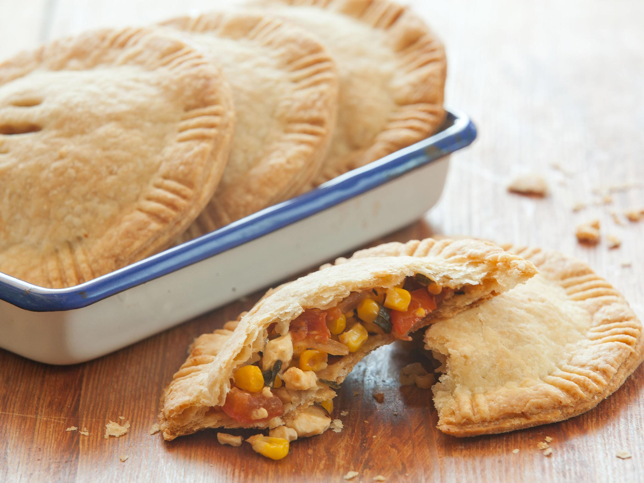 Recipe Savory Corn Tomato And Feta Hand Pies Whole Foods Market