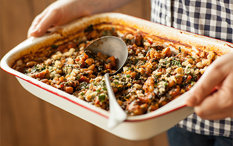 One dish wonders whole foods market italian baked beans and greens forumfinder Image collections