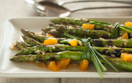 Grilled Asparagus Bundles with Dijon-Orange Vinaigrette