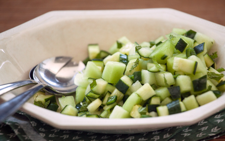 Honeydew and Poblano Salad with Smoked Salt and Mint