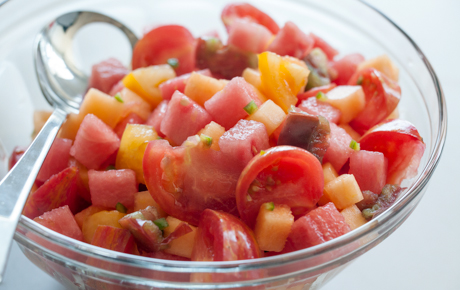 Heirloom Tomato and Melon Salad