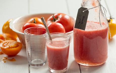 Fresh Heirloom Tomato Juice