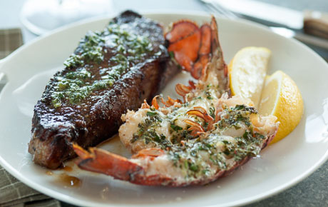 Herb-Roasted Lobster and Steak