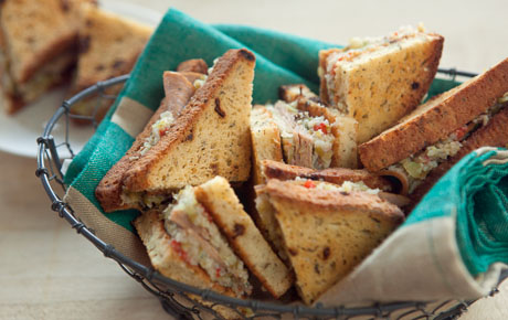 Gluten-Free Muffaletta Party Sandwiches