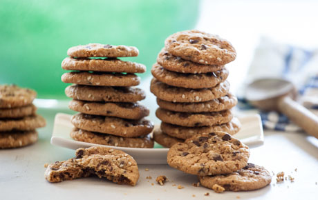 Mini Chocolate Chip Sesame Cookies
