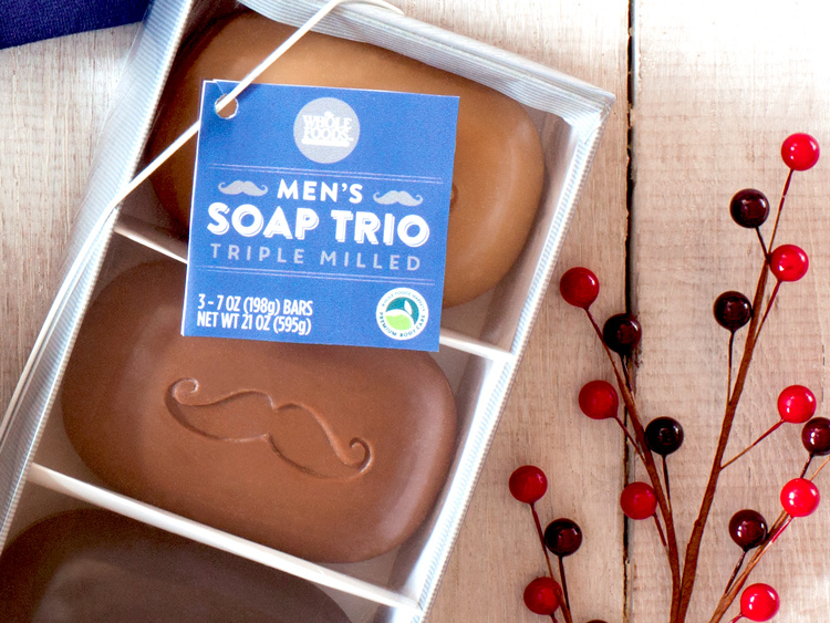 Men's soap embossed with moustaches
