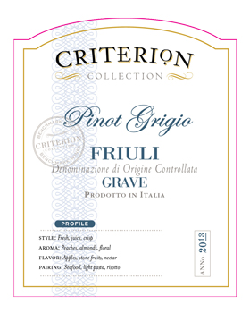 Criterion Collection Pinot Grigio Friuli Grave
