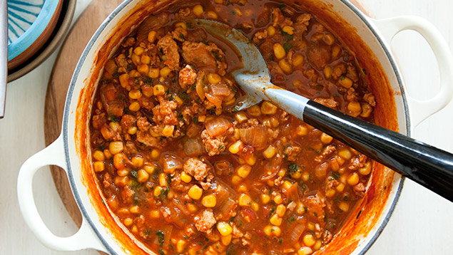 Spicy Corn and Chicken Chili