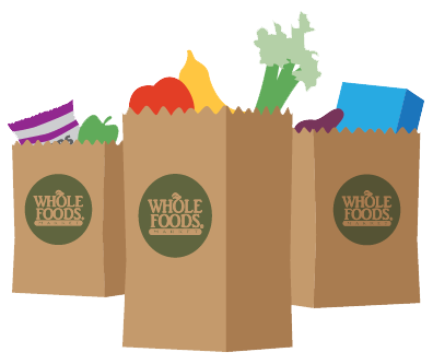 whole foods market grocery bags
