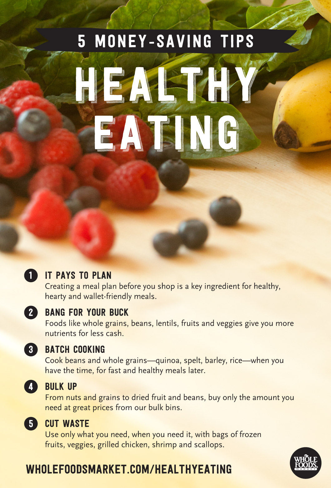 Flyer Healthy Food Tips