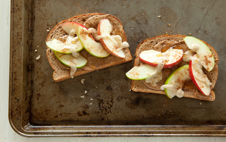 Open-Face Apple and Tahini Sandwich