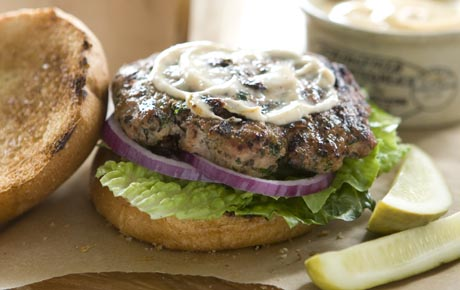 Lakeside Turkey Burgers Recipe