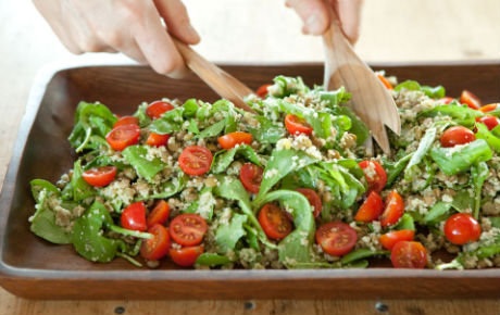 Lentil and Couscous Salad with Arugula