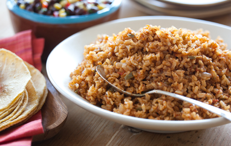Baked Mexican Brown Rice