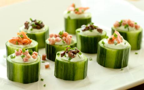 Creamy Cucumber Chive Cups
