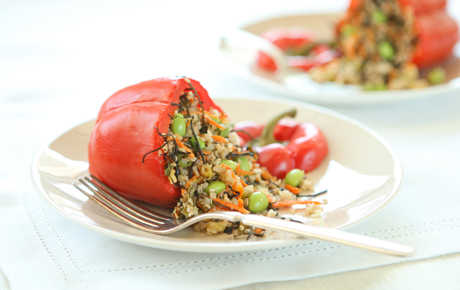 Grain Stuffed Red Peppers