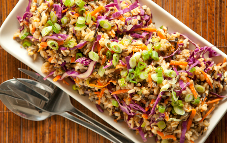 TMiso-Ginger Wild Rice with Carrots and Cabbage