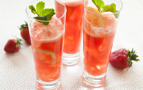 Strawberry-Lemon Soda