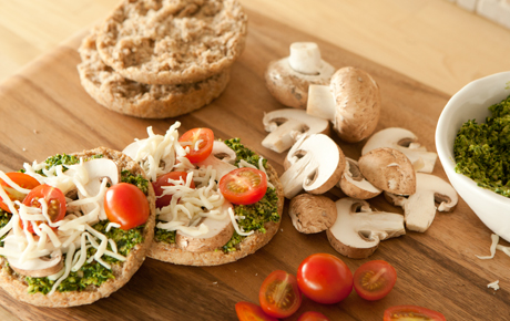 Whole Grain Mini Pizzas