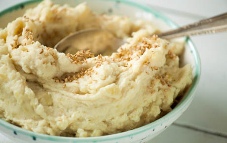 Tahini-Garlic Mashed Potatoes