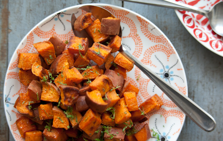 Coconut-Roasted Sweet Potatoes
