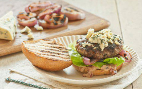 Big Blue Burgers with Cherry Mustard Recipe