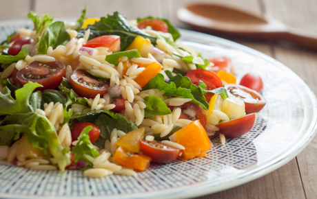 Heirloom Tomato, Kale and Orzo Salad