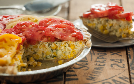 Savory Corn Tart with Heirloom Tomatoes