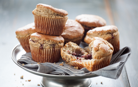 Peanut Butter and Jelly Snack Muffins