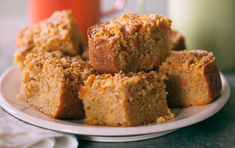 Super-Moist Carrot-Almond Coffee Cake