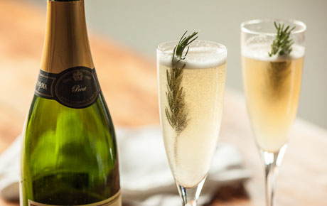 Rosemary-Pear Bellini