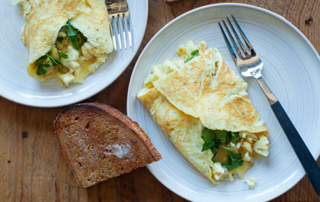Cauliflower and Parsley Omelet for Two