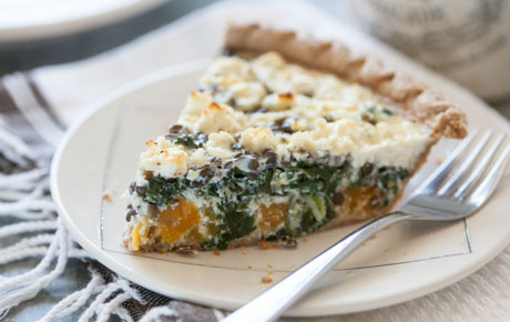Lentil, Butternut Squash and Collards Pie