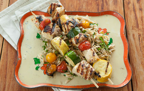 Chile-Orange Swordfish Kabobs
