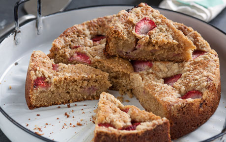 Strawberry-Lemon Olive Oil Coffee Cake
