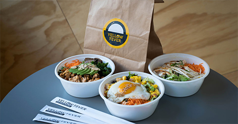 Yellow Fever assorted meals to-go packaging