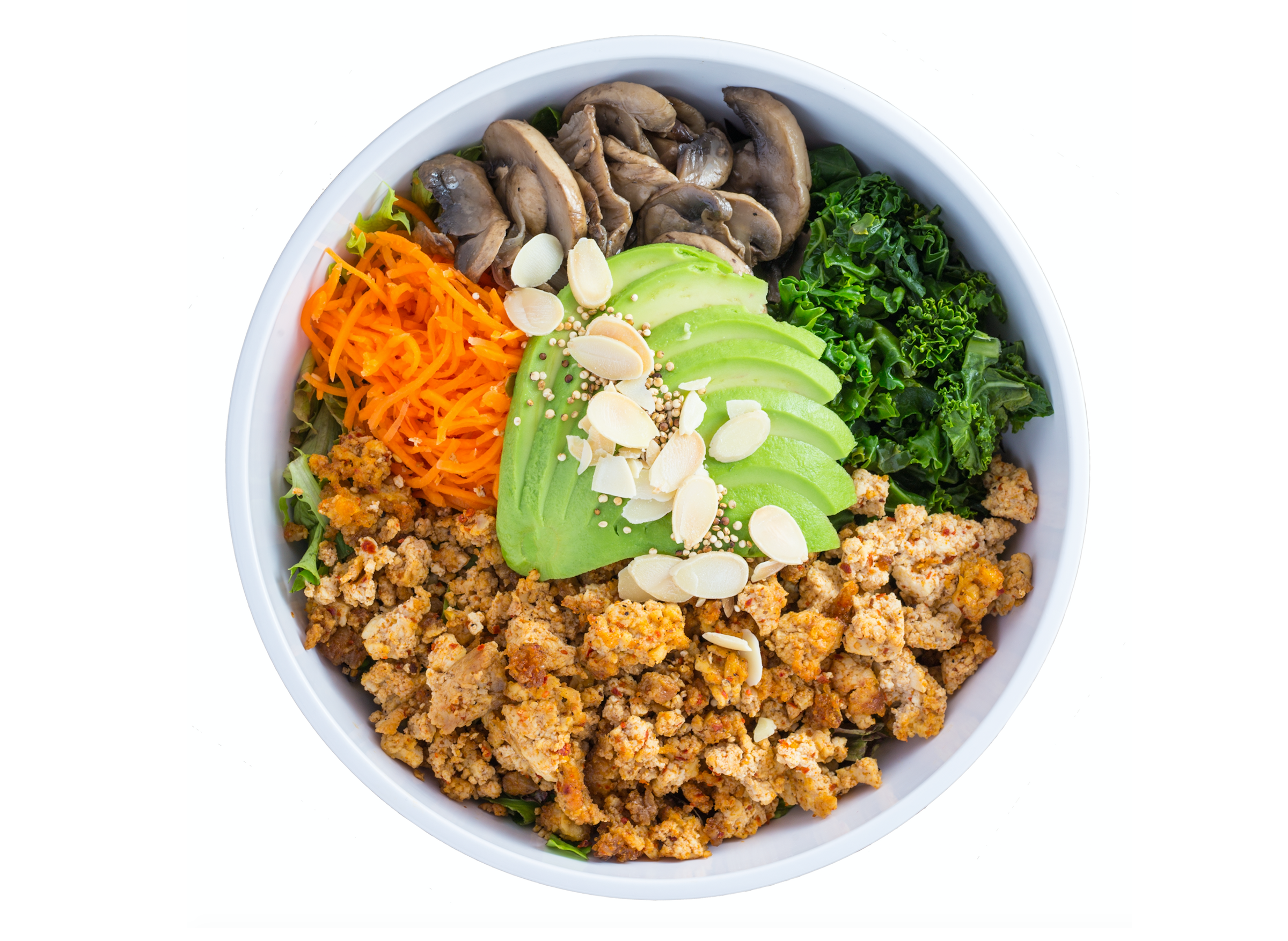 bowl with vegetables and protein