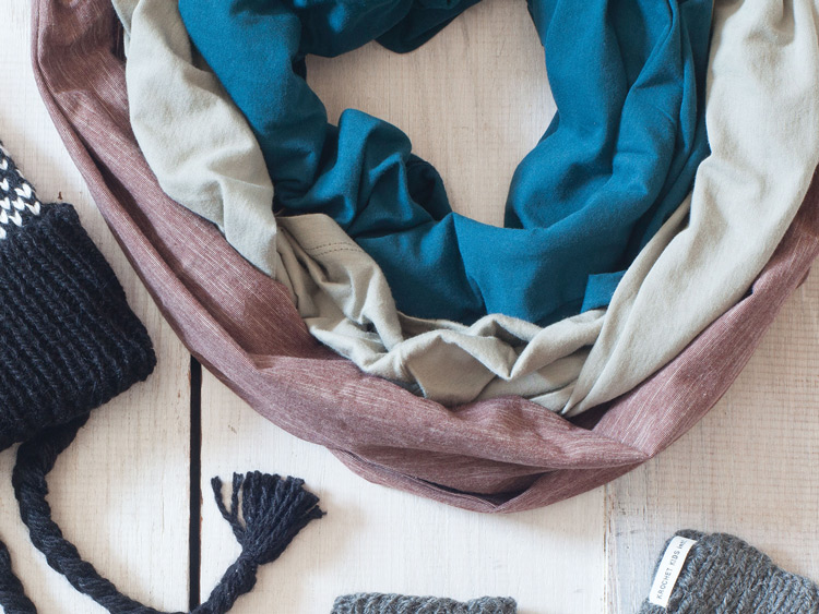 Synergy Organic Clothing infinity Scarves
