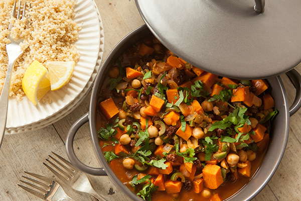 Sweet Potato and Chickpea Tagine