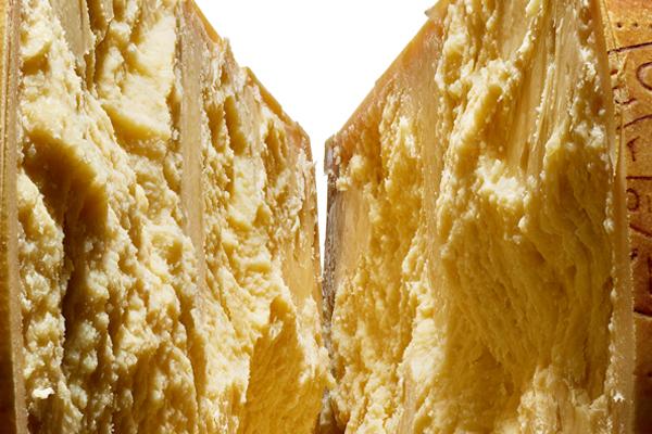 Close up Parmigiano Reggiano