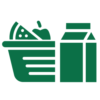 groceries in cart icon